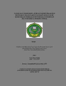 Tanggapan Mahasiswa Jurusan Komunikasi Dan Penyiaran Islam