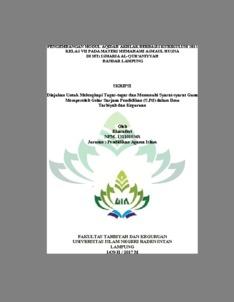 Pengembangan Modul Aqidah Akhlak Berbasis Kurikulum 2013 Kelas Vii Pada Materi Memahami Asmaul Husna Di Mts Ismaria Al Qur Aniyyah Bandar Lampung Raden Intan Repository