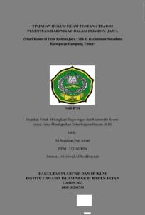 Tinjauan Hukum Islam Tentang Tradisi Penentuan Hari Nikah Dalam Primbon Jawa Studi Kasus Di Desa Rantau Jaya Udik Ii Kecamatan Sukadana Kabupaten Lampung Timur Raden Intan Repository