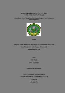 Dana Zakat Fitrah Dan Zakat Mal Untuk Pembangunan Masjid Studi Kasus Desa Padang Ratu Kecamatan Sungkai Utara Kabupaten Lampung Utara Raden Intan Repository