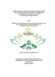 Peran Kepala Madrasah Sebagai Inovator Dalam Meningkatkan Mutu Pendidikan Di Mts Pelita Gedong Tataan Kabupaten Pesawaran Raden Intan Repository